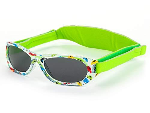 Kiddus Sonnenbrillen für Baby Kinder Jungen und Mädchen. 0 Monate bis 2 Jahren. UV400 SonnenSchutz. Unzerbrechliche Linsen. Mit Verstellbarem Gummiband. Nützliches Geschenk