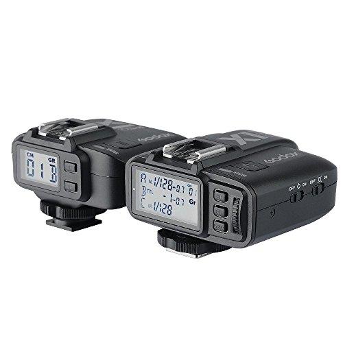 Godox X1C 2,4 GHz Drahtlos-Hot-Shoe-Blitzauslöser Kit für Canon 32 Kanäle Speedlite -Fernbedienung TTL 1/8000s HSS (Set: 1 Sender, 1 Empfänger) schwarz