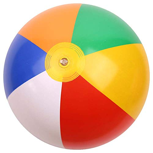 YIDADIAN 12/14/16 Zoll Aufblasbarer Wasserball Regenbogen-Bälle für Swimmingpool-Party Strandspielzeug (12-zoll-strand-ball)