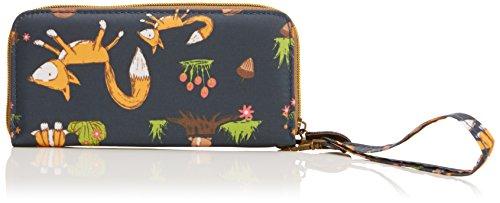 Swankyswans Damen Freddie Fox & Squirrel Print Front Zipper Wallet Geldbörse, Marineblau, one Size -