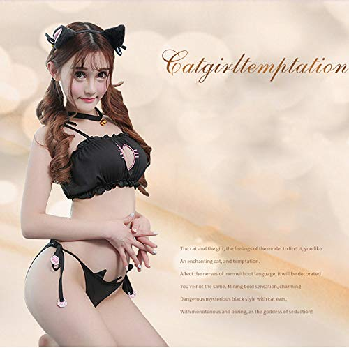 JQ Sexy Dessous, Offene Breasted Stickerei Unterwäsche, Sexy Catwoman Cosplay Cat Dessous, Totes Wasser, Anime - Anime Catwoman Kostüm