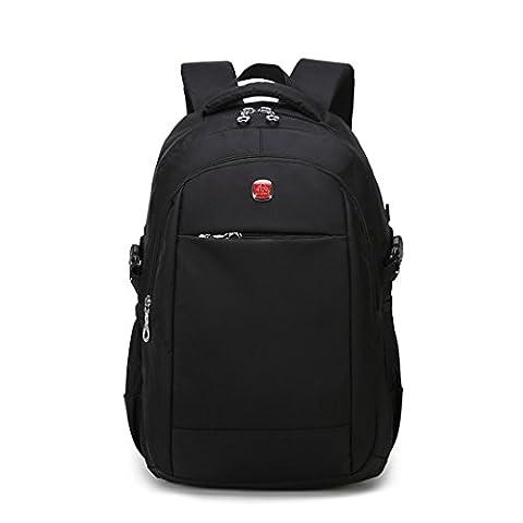 Wewod Waterproof Laptop Backpack,Men's 15 inch Computer Rucksack Outdoor Travel Hiking Nylon Shoulder Bag Sports Durable Schoolbag