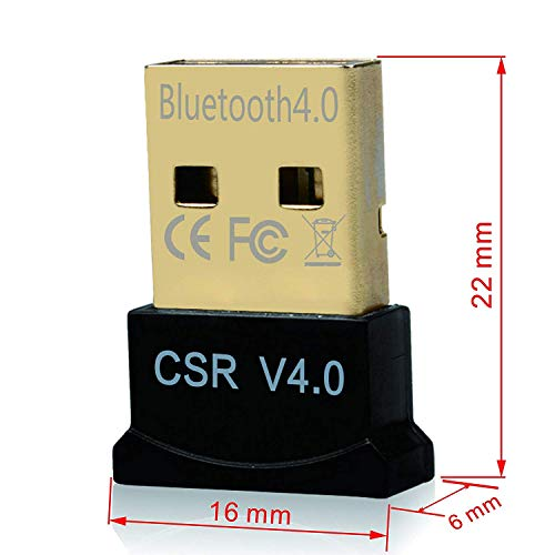 【Plug & Play】 Bluetooth Dongle -Rts Low Energy 4.0 USB Bluetooth Dongle EDR Wireless Receiver and Transfer for Stereo Headphones,Keybord,Headset,PDA etc.Bluetooth Adapter Support Win10 8 7 VistaXP