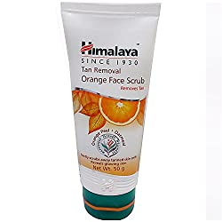 Himalaya Orange Face Scrub - Tan Removal, 50g Tube