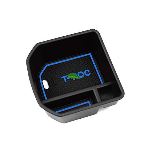 LFOTPP T-Roc Handschuhfach Armlehne Aufbewahrungsbox Center Console Armrest Storage Box Innen Blau (Console Box)