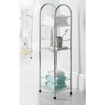 official photos 3d122 2d11c 3 Tier Bathroom Storage Shelf: Amazon.co.uk: Kitchen & Home