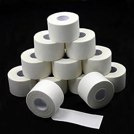 12 x Sport tape 3,8 cm x 10 m colore: bianco