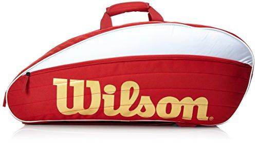 Wilson IV 12er Racketbag Schlägertaschen, rot, 750 x 40 x 33 cm, 70 Liter