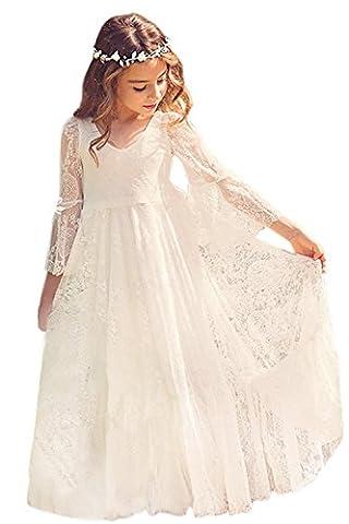 Babyonlinedress Elégant Robe de Fille Enfant de Mariage/d'Honneur/Soirée Princesse Noble