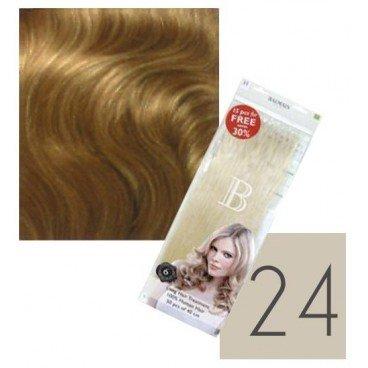 Paquet de 50 Extensions Kératine Cheveux Naturels balmain N°24 40 CM