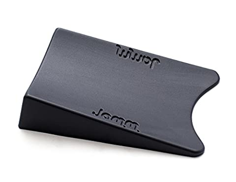 THE #1 Rated Doorstop, outperforms all other door stops and door wedges. Its unique Award winning design holds doors fast from both sides at the same time. Premium Non Rubber Hardware. Food-grade materials. BpA, Lead and Phthalate free. UL Tested. (Single pack, Dark Grey)