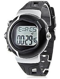 Relojes Hermosos, Unisex monitor de ritmo cardíaco contador de calorías Digital reloj automático de caucho estilo (colores surtidos) ( Color : Negro , Talla : Una Talla )