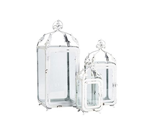 Lot de 3 lanternes en fer blanc