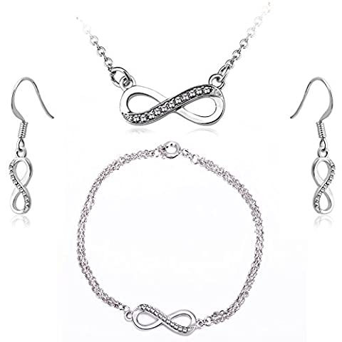 Timothy Stone - Swarovski Elements - Infinity - Argent -