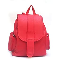 Vintage Women's Backpack Handbag (Red,Bag 162)
