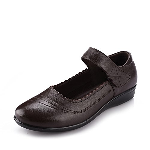 Taille chaussures plates avec sa mère/Chaussures plates âgées/Fond mou pour hommes/Les femmes âgées dans le confort de A