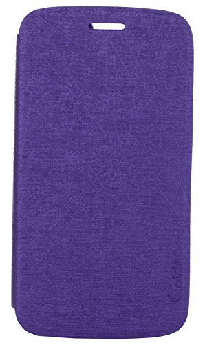 iCandy™ Soft TPU Non Slip Back Shell PU Leather Hybrid Flip Cover For Samsung Galaxy Grand 2 S7106 - PURPLE  available at amazon for Rs.139