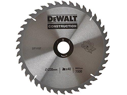 DEWALT DT1157-QZ - HOJA PARA SIERRA CIRCULAR PORTATIL PARA CONSTRUCCION 235X30MM 40D ATB +10º