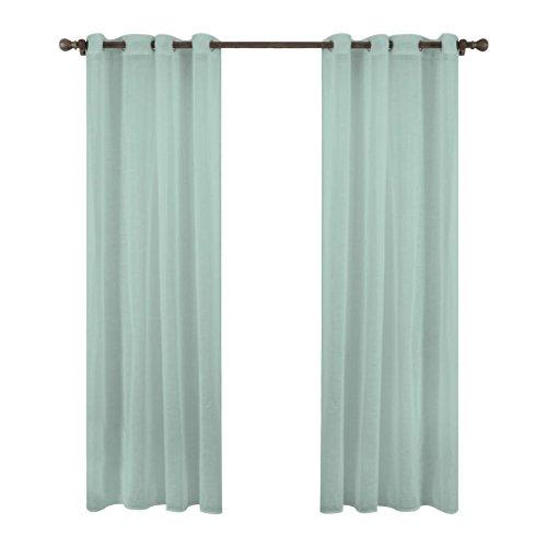 LLW Moderne Minimalistische Schlafzimmer Wohnzimmer Veranda Vorhänge Translucent Balkon Druck Vorhänge Set 2, Light Blue, 140 * 260cm
