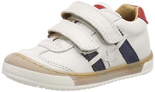 Off-weiß Leder Schuhe (Bisgaard Unisex-Kinder 40343.119 Sneaker, Weiß (Off White 3001-1), 28 EU)