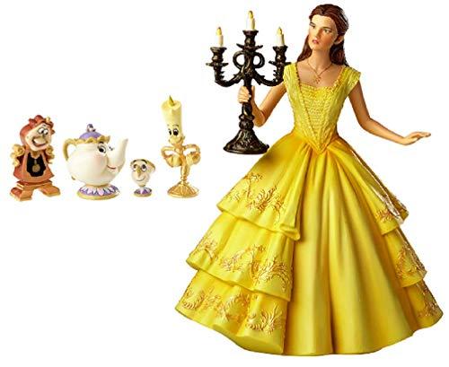 ENESCO Disney's Schöne und Das Biest Belle Figur mit Lumiere Cogsworth Mrs.Potts und Chip