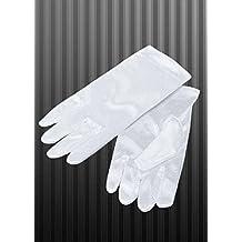 Niños Gangster estilo corto blanco guantes de Satén