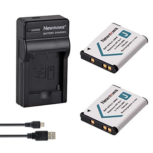 Newmowa NP-BJ1 Akku (2er Pack) und tragbar Micro-USB-Ladegerät-Set für Sony NP-BJ1 Nikon EN-EL19 Sony DSC-RX0 Sony DSC-RX0 II 1a Power Supply Kit