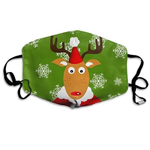 Masken, Masken für Erwachsene, Unisex Unique Mouth Mask, Christmas Cute Reindeer Polyester Anti-dust Masks - Fashion Washed Reusable Face Mask for Outdoor Cycling