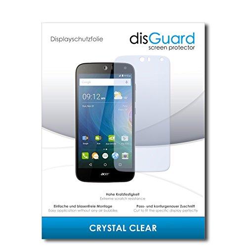 disGuard® Bildschirmschutzfolie [Crystal Clear] kompatibel mit Acer Liquid Z630 [4 Stück] Kristallklar, Transparent, Unsichtbar, Extrem Kratzfest, Anti-Fingerabdruck - Panzerglas Folie, Schutzfolie