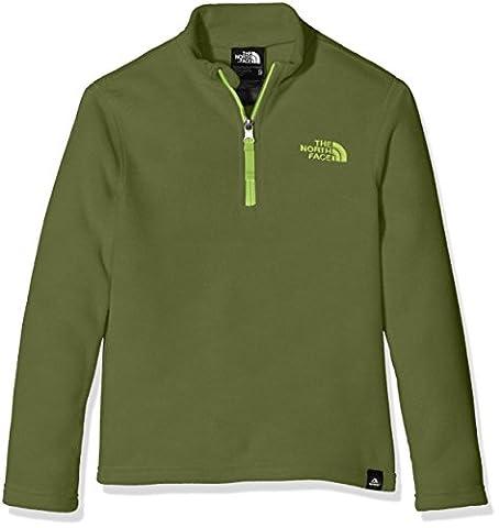 North Face Youth Glacier 1/4 Zip Recycled Fleece Sweater, Green/Terrarium Green, Medium
