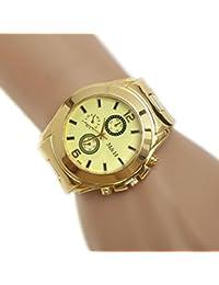Reloje Hombre Mujer,Xinan Sport Reloj de Pulsera de Reloj de Dial (Oro)