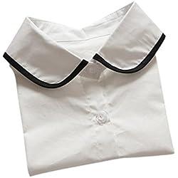 Detachable Faux Fake Lapel Shirt Collar cuello postizo de camisa
