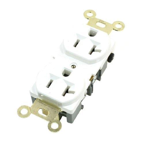 DealMux Erröten-Einfassung Spec Grad Duplex 20Amp Steckdose 125V Weiß SS-6B-2 (Steckdose 20 Amp)