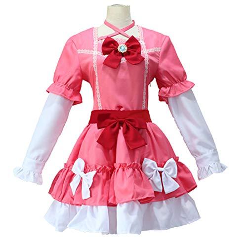 Kostüm Elf Cute Fancy Dress - YKJ Anime Lehrer Rollenspiele Full Set Cute Lolita Pink Dress Full Set,Full Set-S