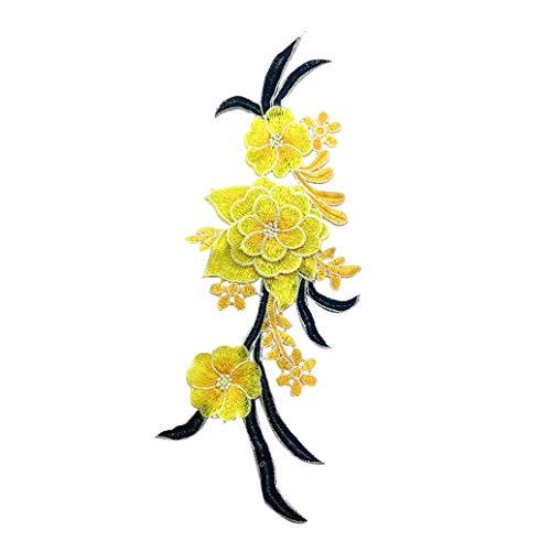 Teydhao 1 Stücke Dreidimensionale Stickerei Kragen Blume Tanz Kostüm Patch Nähen Patches Kleidung Pailletten Applikationen Bekleidungszubehör T-Shirt Jeans Tuch Taschen - Pailletten Applikationen Für Tanz Kostüm