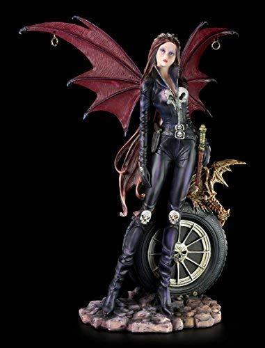 Dark Angel Figur groß - Sexy Biker Outfit mit Drachen -