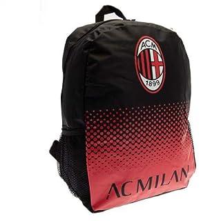 A C Milan Football Club Official Fade Back Pack Bag School Gym Rucksack Badge