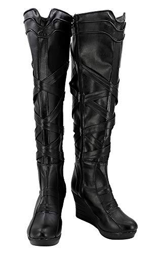 Valkyrja Thor: Ragnarök Stiefel Karneval Schuhe Cosplay Boots Damen Schwarz 46