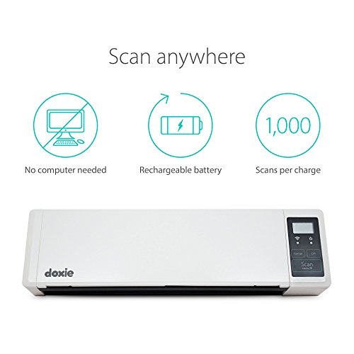 Doxie Q - wireless rechargeable A4 document scanner with automatic document feeder