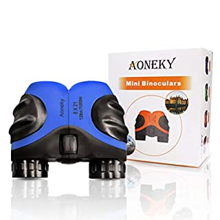 Aoneky Kids Binoculars - Mini Compact Zoom Binoculars for Children - Best Gift, 8x21, Waterproof / Shockproof Rubber