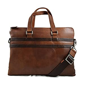 Ledertasche Messenger herren Damen Tasche braun Handtasche Schultertasche Notebook Tablet ipad tasche Umhängetasche…