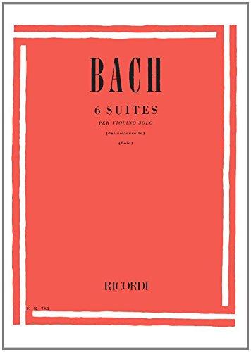 Suites (6) pour Vc-Arr.Violon par Polo - Vl solo