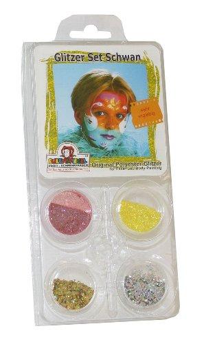 eulenspiegel-908181-glitzer-set-schwan-4-farben