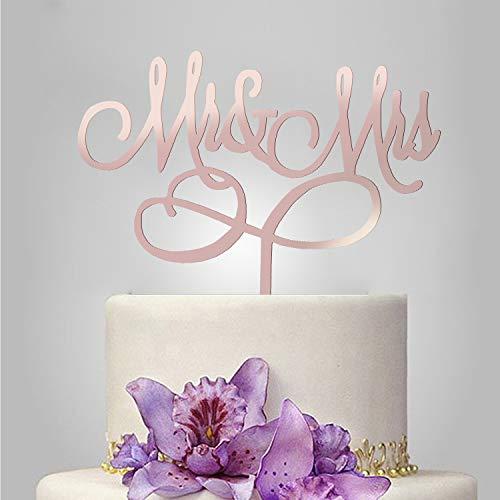 , Monogramm, Hochzeit, Brautparty, Jahrestag, Dekoration, Geschenke, Geschenke, Glitzer-Metall, silberfarben one size 1 Mr and Mrs Style #1 ()