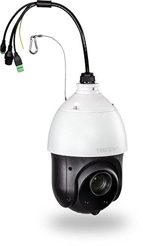 TRENDnet Indoor/Outdoor 2MP 1080p PoE+ IR PTZ Speed Dome Netzwerkkamera, 20 x Optischer Zoom, Auto-Focus, Auto-Iris, Wetterschutzklasse IP66, Nachtsicht bis zu 100m (328 ft.), TV-IP440PI Video Auto Iris