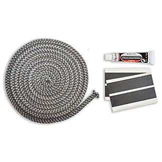 Junta para puerta y chimenea Set Incluye adhesivo y abbinder Junta de cordón 3m, diámetro de 10mm