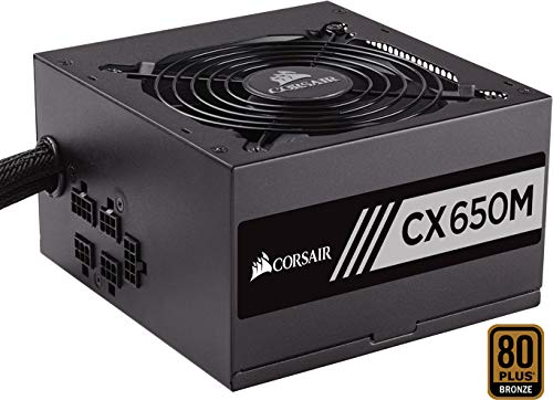 Corsair cx650m alimentatore pc, semi modulare, 80 plus bronze, 650 w, eu