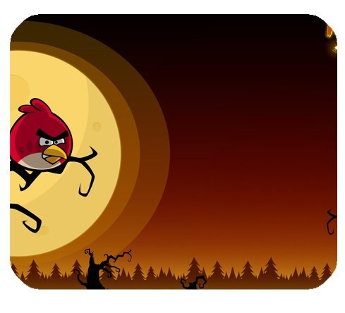 Angry Birds Seasons Halloween Mousepad Personalized Custom Mouse Pad Oblong Shaped In 9.84