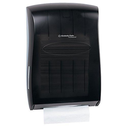 Kimberly Clark Professional Universal gefaltet Papier Handtuch Spender (09905), für KLEENEX und Scott Marke Multifold und C-Falz, 33,8cm X, 15x 48cm Smoke (schwarz)