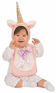 Rubies - Disfraz Babero con sombrero de unicornio para bebé, 6-12 meses (Rubies 510518)
